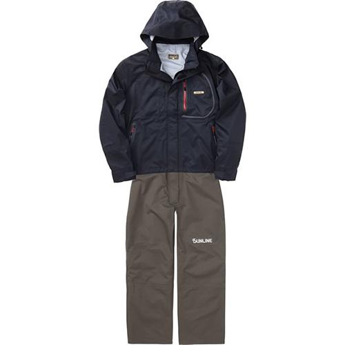 サンライン サロペットスーツ SCW6110 ブラック LL