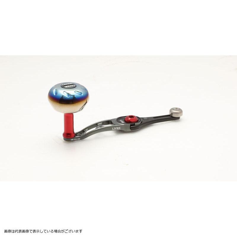 メガテック(LIVRE) SB 55-60 シマノ右巻き (ガンメタP+レッドG)