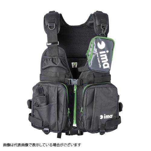 アイマ(ima) ima オリジナルフローティングベストX-0 ブラック/グリーン