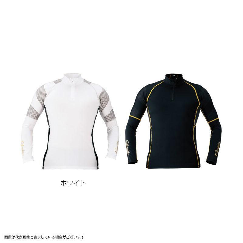 【お買い物マラソン 4月】がまかつ GM3387 コンプレッションジップシャツ ホワイト 3L【4/9 20:00~4/16 01:59】