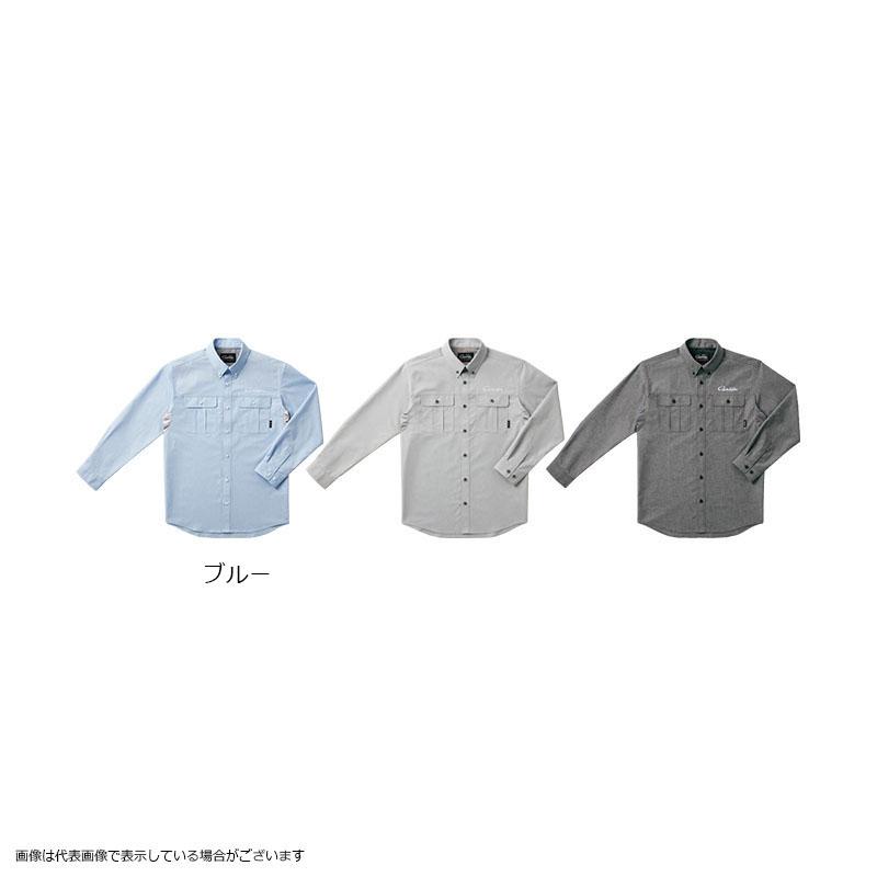 がまかつ GM3454 ダンガリーシャツ ブルー L