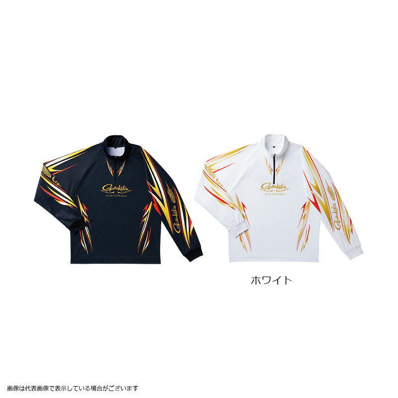 がまかつ GM3474 2WAYプリントジップシャツ(長袖) ホワイト L