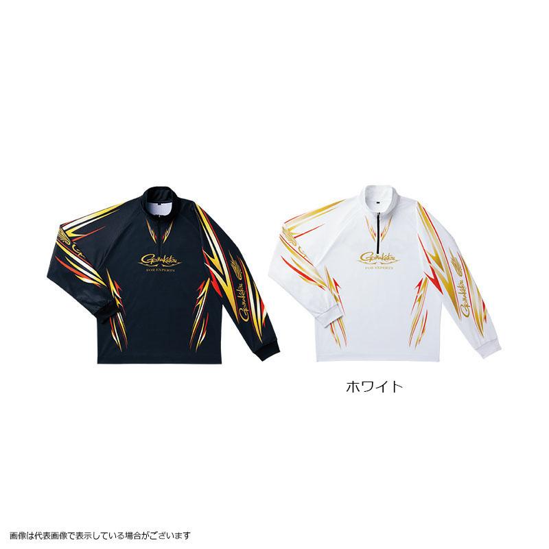 がまかつ GM3474 2WAYプリントジップシャツ(長袖) ホワイト LL