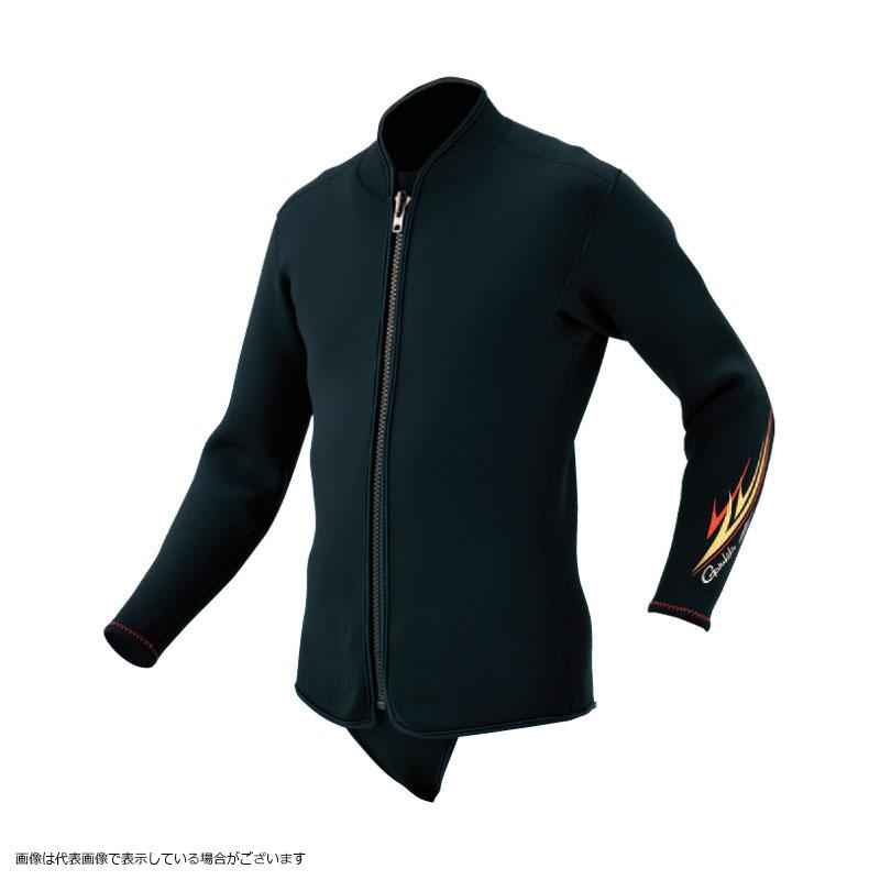 【鮎受注会】 がまかつ GM5802 CRジャケット(3mm厚) ブラック L ncayusho