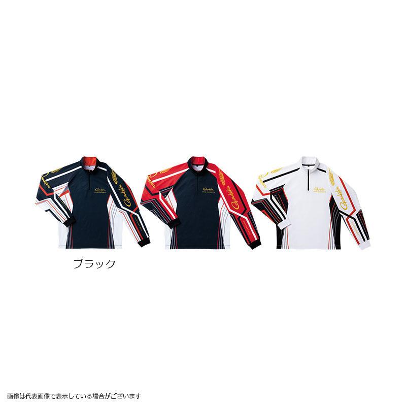 がまかつ GM3477 2WAYプリントジップシャツ(長袖) ブラック L