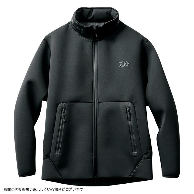 ダイワ DJ-2707 ウインドブロックフルジップパーカー ブラック L