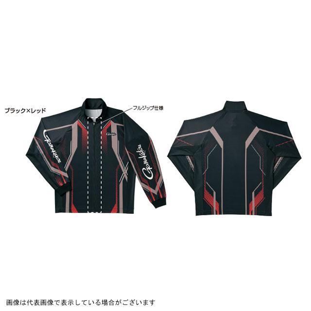 がまかつ フルジップトーナメントシャツ GM3569 ブラック/レッド LL