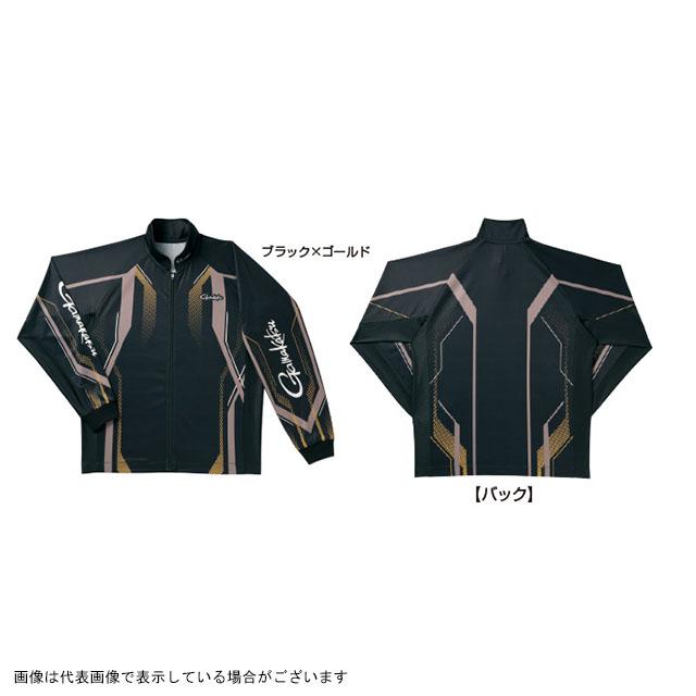 がまかつ フルジップトーナメントシャツ GM3569 ブラック/ゴールド L