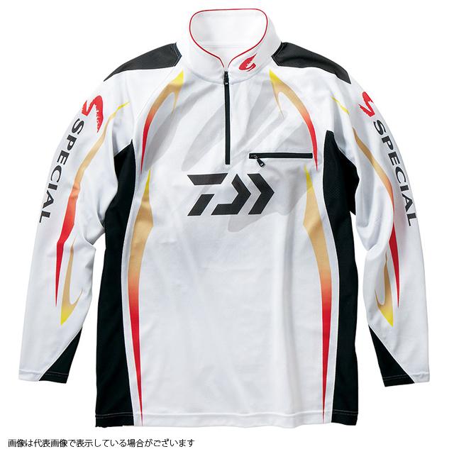ダイワ DE-70009 スペシャル アイスドライジップアップ長袖メッシュシャツ ホワイト M