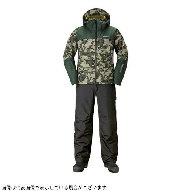 シマノ RB-025R DSアドバンスウォームスーツ オリーブSカモ 2XL