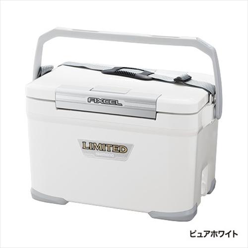 シマノ クーラーボックス フィクセル LIMITED 220 HF-022N ピュアWH