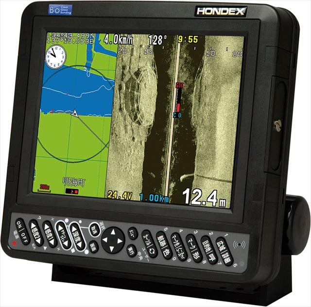 ホンデックス8.4型カラー液晶GPSプロッターサイドスキャンソナー(バス用)HE-830si-Bo