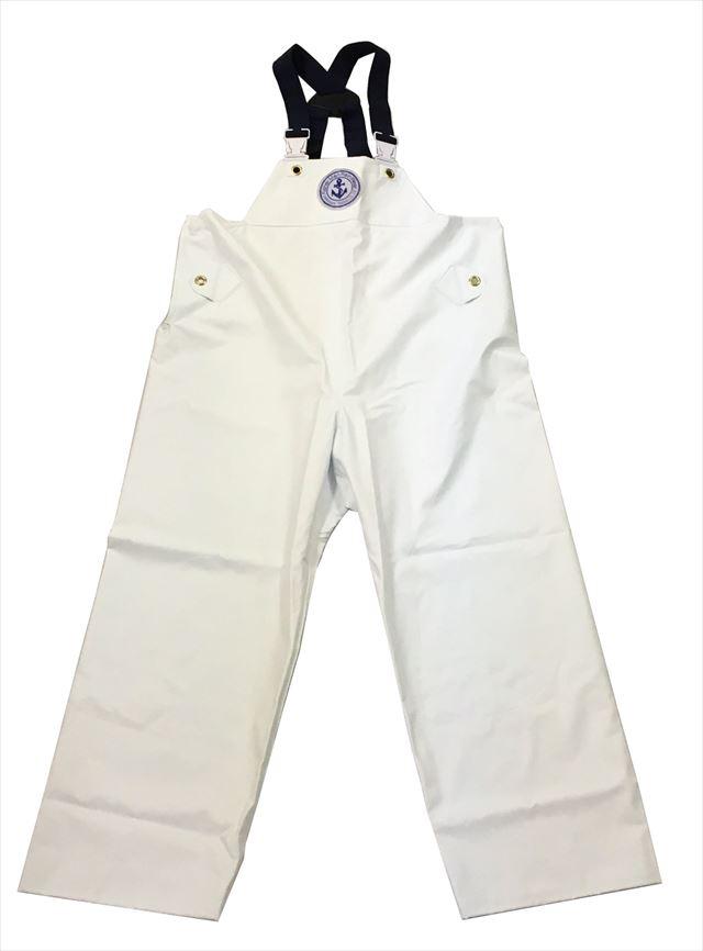 【エントリーでポイントup】 クラフテル レインウエアー 胸付ズボン 3L 白 【期間 6月1日 0:00~6月1日 23:59】
