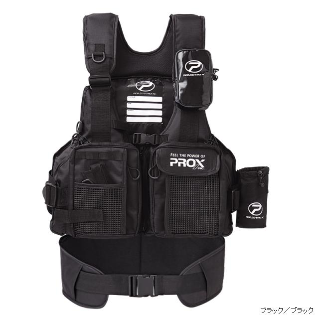 プロックス (PROX) フローティングゲームベスト サポーター付 (ブラック/ブラック)