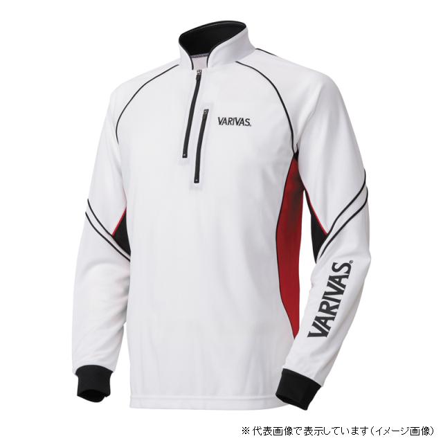 モーリス VARIVAS クールマックスジップシャツ 長袖 VAZS-19 3L ホワイト