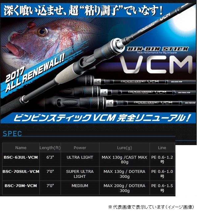 ジャッカル BIN-BIN STICK(ビンビンスティック) VCM BSC-63UL