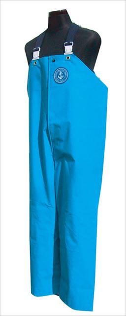 【エントリーでポイントup】 【特価】クラフテル レインウエアー 胸付ズボン前開 6L ブルー 【期間 6月1日 0:00~6月1日 23:59】
