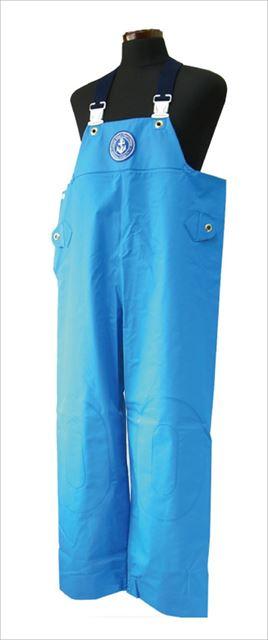 クラフテル レインウエアー 胸付ズボン 4L ブルー