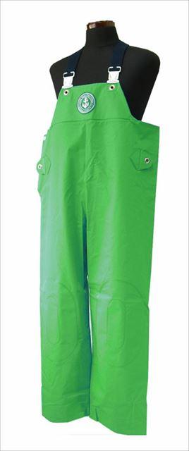 クラフテル レインウエアー 胸付ズボン 5L グリーン 【スーパーSALE エントリーで10倍 最大42倍 3月4日 20:00~3月11日 1:59】