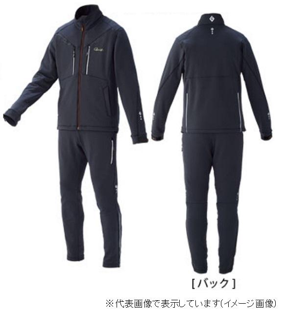 がまかつ GM3528 ソフトシェルスーツ チャコール/カーボンブラック LL