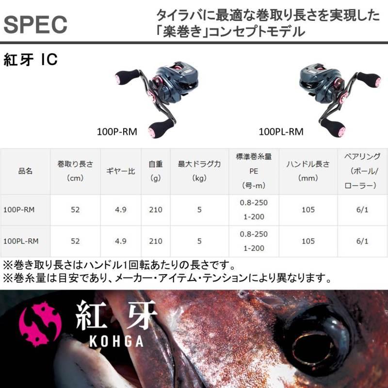 ダイワ 紅牙 コウガ IC 100P−RM (ベイト 右ハンドル)