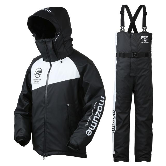 mazume(マズメ) MZFW-384 ラフウォーター オールウェザースーツ L ブラック×ホワイト