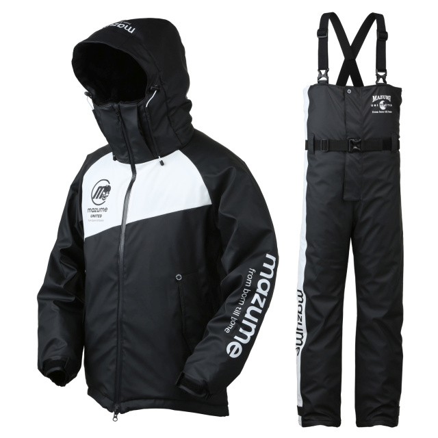 mazume(マズメ) MZFW-384 ラフウォーター オールウェザースーツ LL ブラック×ホワイト