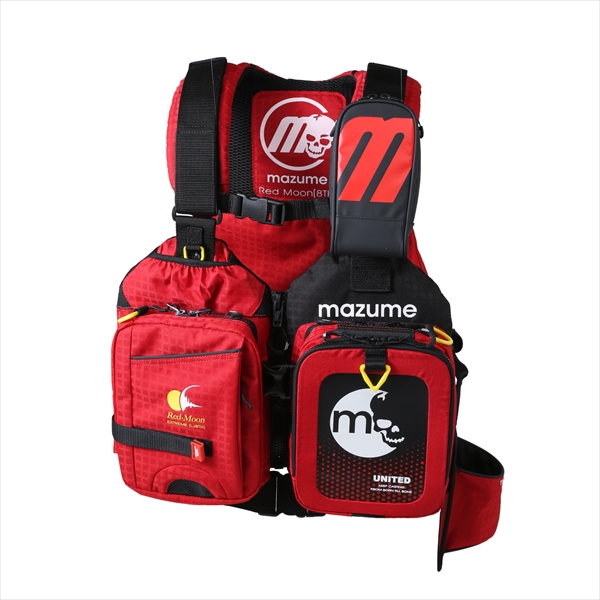【お買い物マラソン 4月】マズメ(mazume) MZLJ-401 レッドムーンライフジャケット 8 フリー レッド【4/9 20:00~4/16 01:59】