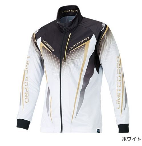 【ポイントアップ 4/1 10:00~4/8 09:59】シマノ フルジップシャツ LTDプロ ホワイト L (長袖)