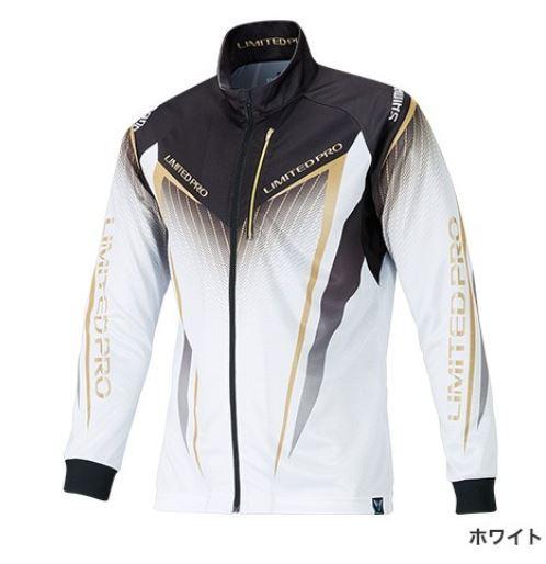 (予約品) シマノ フルジップシャツ LTDプロ ホワイト 2XL (長袖) (3月中旬-5月発売予定) ※他商品同時注文不可