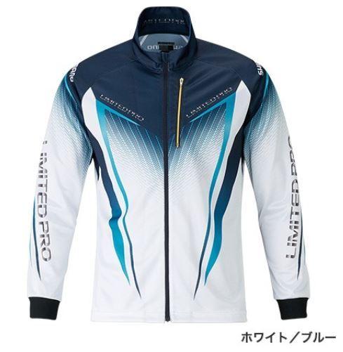 (予約品) シマノ フルジップシャツ LTDプロ ホワイト/ブルー XL (長袖) (3月中旬-5月発売予定) ※他商品同時注文不可