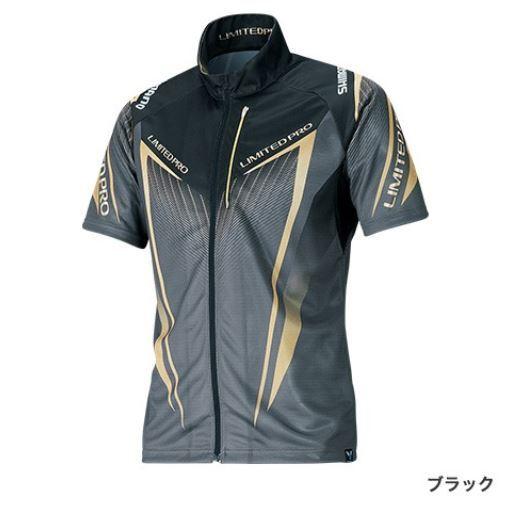 (予約品) シマノ フルジップシャツ LTDプロ ブラック 2XL (半袖) (3月中旬-5月発売予定) ※他商品同時注文不可