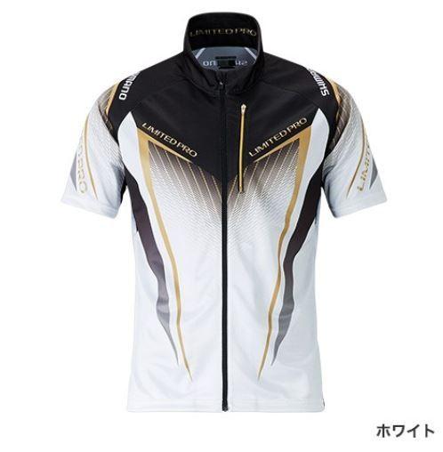 (予約品) シマノ フルジップシャツ LTDプロ ホワイト XL (半袖) (3月中旬-5月発売予定) ※他商品同時注文不可
