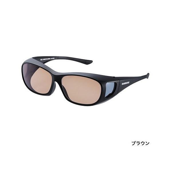 シマノ UJ-201S 偏光サングラス オーバーグラス ブラック レンズ:ブラウン
