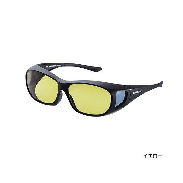 シマノ UJ-201S 偏光サングラス オーバーグラス ブラック レンズ:イエロー