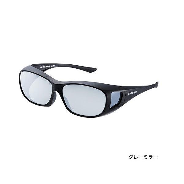シマノ UJ-201S 偏光サングラス オーバーグラス ブラック レンズ:グレーミラー
