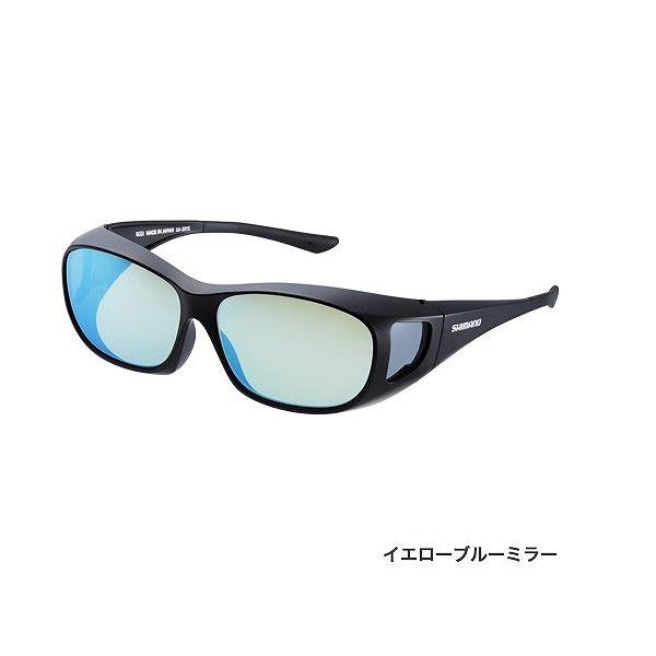 シマノ UJ-201S 偏光サングラス オーバーグラス ブラック レンズ:イエローブルーミラー