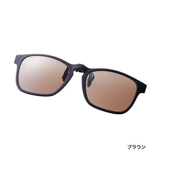 シマノ UJ-401S 偏光サングラス クリップオン ブラック レンズ:ブラウン