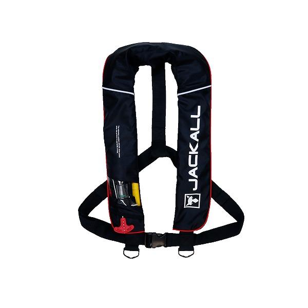ジャッカル JK2520RS 自動膨張式ライフジャケット ブラック/レッド