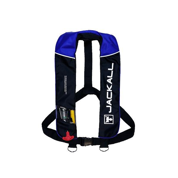 【スーパーSALE!エントリー10倍+5%OFFクーポン!】 ジャッカル JK2520RS 自動膨張式ライフジャケット ブラック/ブルー