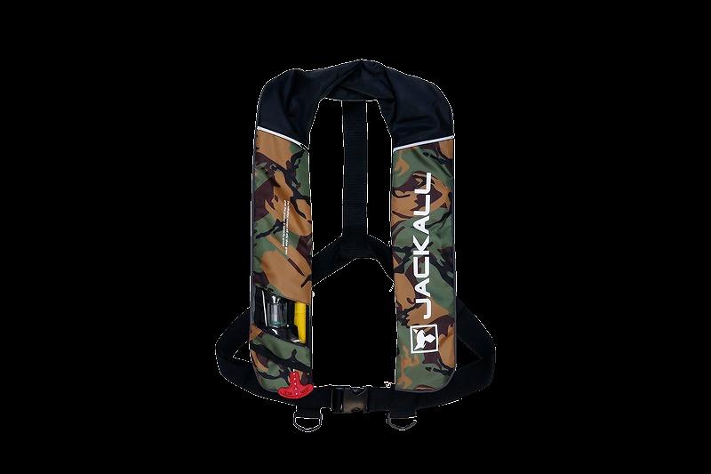 ジャッカル 自動膨張式ライフジャケット グリーンカモ/ブラック JK2520RS 国土交通省型式承認品 小型船舶用救命胴衣 タイプA
