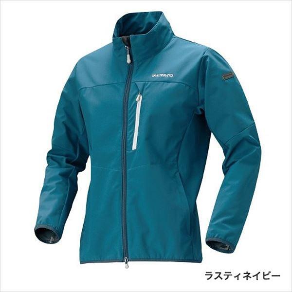 シマノ JA-041Q ストレッチ3レイヤー ジャケット ラスティネイビー 2XL