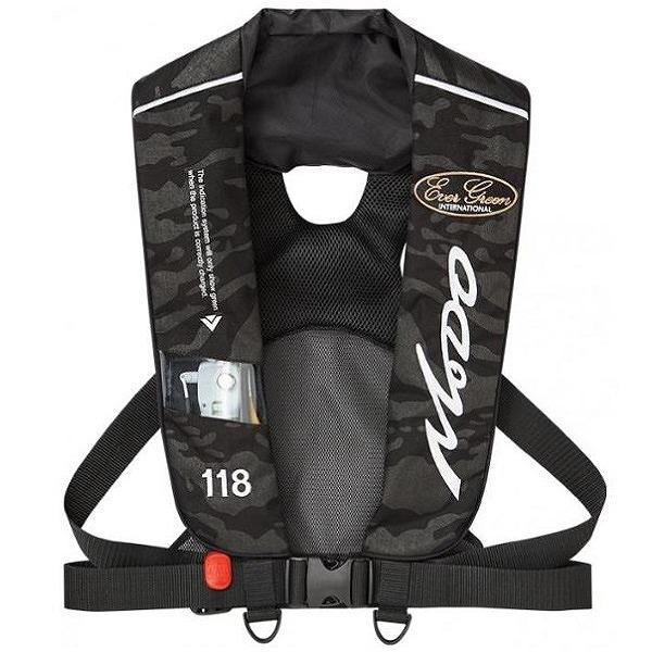 エバーグリーン インフレータブルジャケット タイプ5 モードブラックカモ 国土交通省型式承認品 【タイプA】
