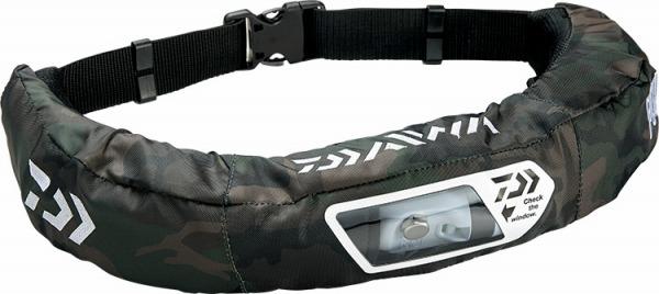 ダイワ DF-2207 ウォッシャブルライフジャケット(自動膨張式) 国土交通省型式承認品【Type A】 グリーンカモ