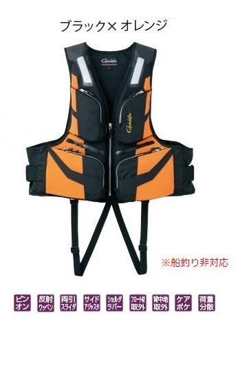 がまかつ フローティングベスト GM2187 ブラック/オレンジ M
