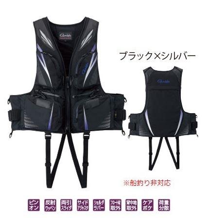 がまかつ フローティングベスト GM2188 ブラック/シルバー M