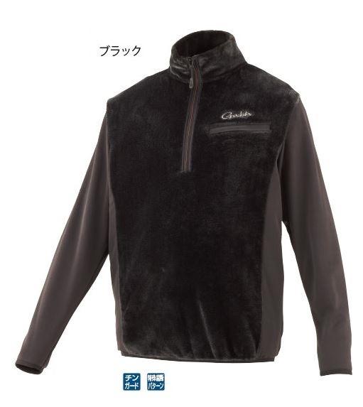がまかつ ボアフリースハーフジップシャツ GM3614 ブラック S