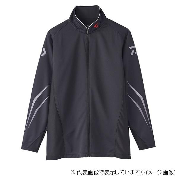 ダイワ スペシャル ウィックセンサー フルジップ長袖メッシュシャツ DE-72020 ブラック L