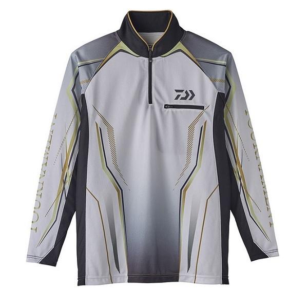 ダイワ DE-73020 トーナメント アイスドライ ジップアップ メッシュシャツ ホワイト XL
