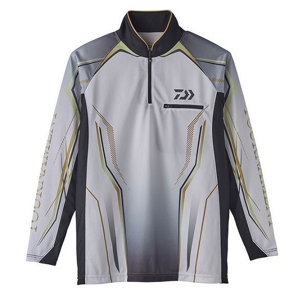 ダイワ DE-73020 トーナメント アイスドライ ジップアップ メッシュシャツ ホワイト 2XL